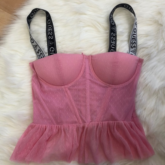 Guess bustier pink